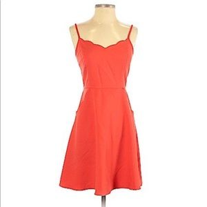 Bright orange cute mini dress!